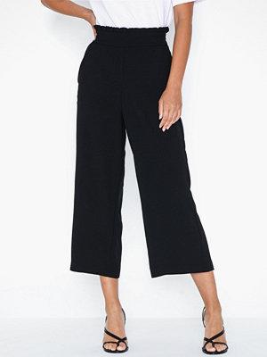 Vila svarta byxor Virasha Hw Cropped Wide Pant/L
