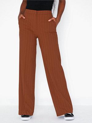 Selected Femme bruna byxor Slftinni Mw Wide Pant Ginger Bread