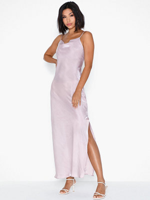 Glamorous Metallic Slit Dress