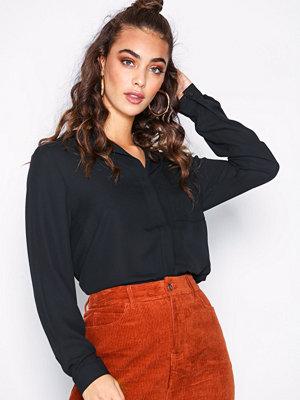 Selected Femme Slfdynella Ls Shirt Noos Svart