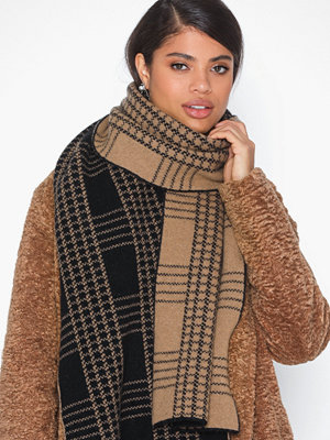 Dagmar Check jacquard scarf