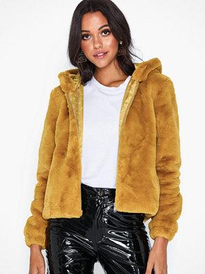 Fuskpälsjackor - Jacqueline de Yong Jdykiwi Faux Fur Hood Jacket Otw Qi