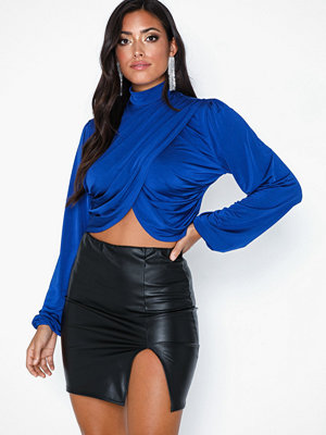 NLY One Slit Leather Look Skirt