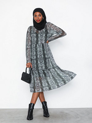 Noisy May Nmlesly L/S Below Knee Dress X4