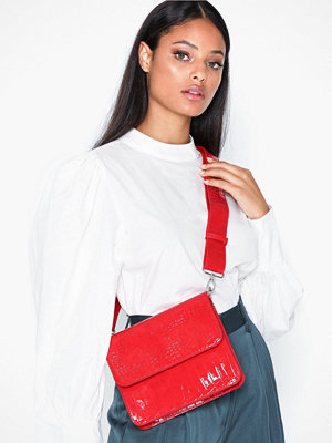 hvisk röd axelväska Cayman Shiny Strap Bag