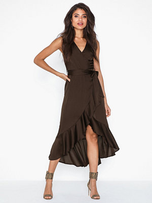 Ax Paris Crossover Satin Dress