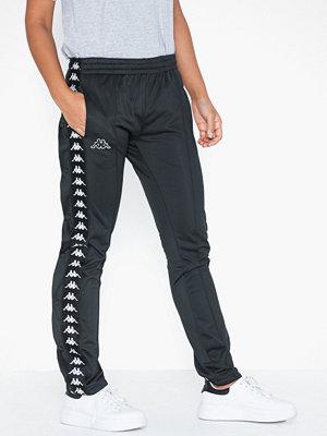 Kappa svarta byxor med tryck Pants, Astoria Snap Banda