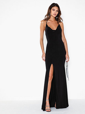Missguided Slinky Cowl Neck Split Detail Maxi Dress