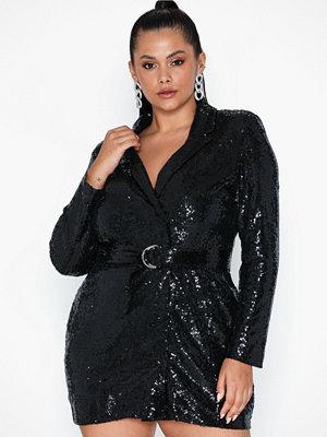 NLY Trend Fabulous Sequin Suit Dress Svart