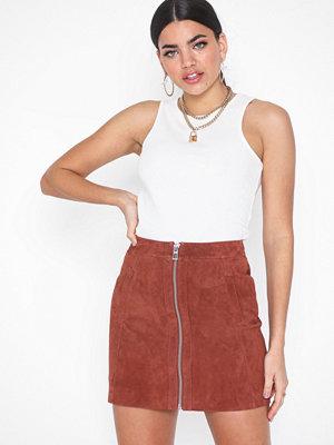 Vero Moda Vmsana Zip Suede Short Skirt