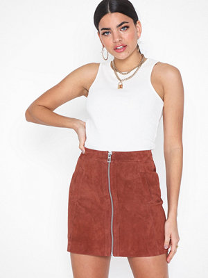 Kjolar - Vero Moda Vmsana Zip Suede Short Skirt