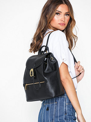 Coach svart ryggsäck Polished Pebble Leather Evie Backpack