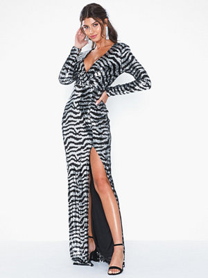 NLY Eve Zebra Sequin Gown
