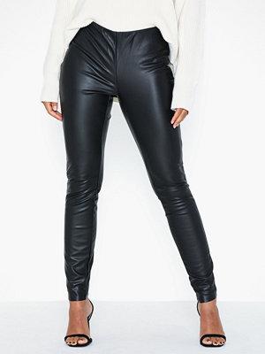 Leggings & tights - Jacqueline de Yong Jdyolympia Faux Leather Legging Otw