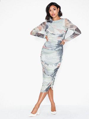 NLY Trend Print Mesh Midi Dress