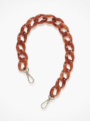 hvisk röd axelväska Chain Handle Tan