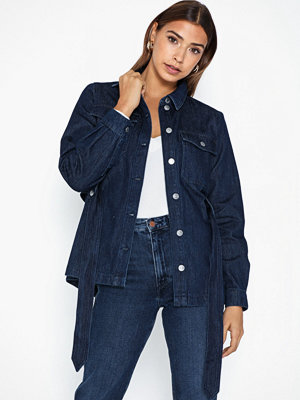 Selected Femme Slfdana Ls Dark Blue Denim Jacket W