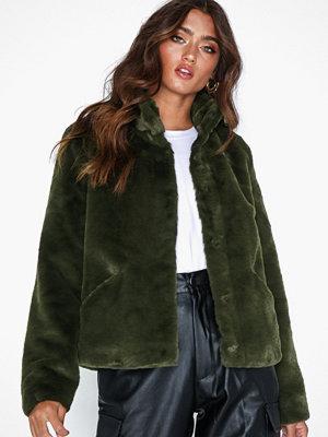 Fuskpälsjackor - Only onlVIDA Faux Fur Jacket Otw Noos Mörk Grön