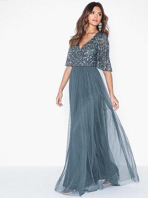 Festklänningar - Maya V-Neck Delicate Sequin Maxi Dress