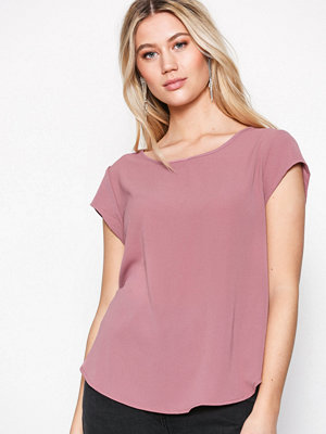 Only onlVIC S/S Solid Top Noos Wvn Ljus Rosa