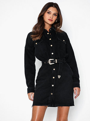 River Island Western BLack Belted Dress