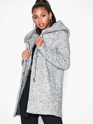 Only Onlsedona Boucle Wool Coat Otw Noos Ljus Grå