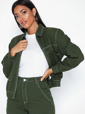 Missguided Zip Through Denim Jacket Co Ord