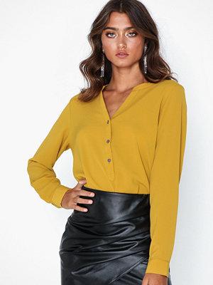 Jacqueline de Yong Jdytrack L/S Blouse Wvn Noos Orange