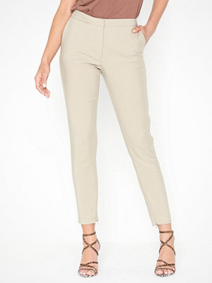 Selected Femme omönstrade byxor Slfmuse Cropped Mw Pant - Dove B