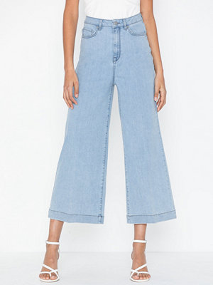 Selected Femme Slfcarry Hw Crop Wide Light Blu Je