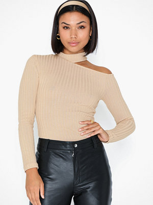 NLY Trend Rib Cut Out Top
