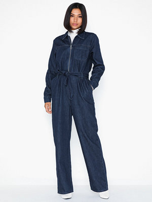 Selected Femme Slfdana Dark Blue Denim Jumpsuit W