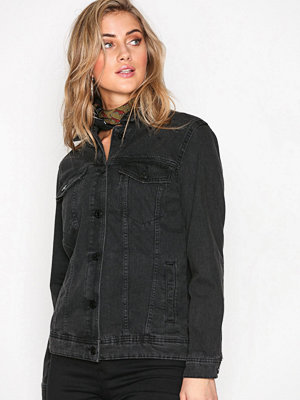 Noisy May Nmole L/S Black Denim Jacket Noos