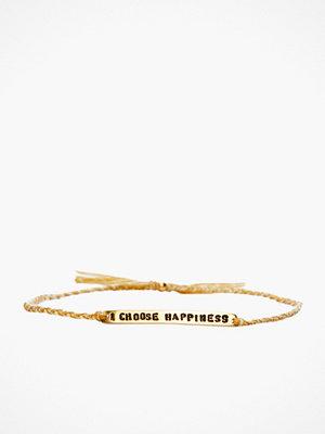 Santai armband I Choose Happiness Bracelet Yellow