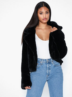 Missguided Faux Fur Belted Jacket