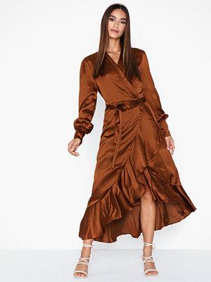 Festklänningar - Object Collectors Item Objalina L/S Flounce Dress a Div