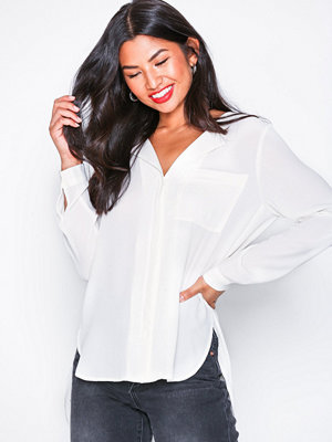 Selected Femme Slfdynella Ls Shirt Noos Offwhite