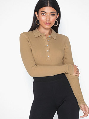 Only Onlhenna L/S Polo Rib Top Jrs