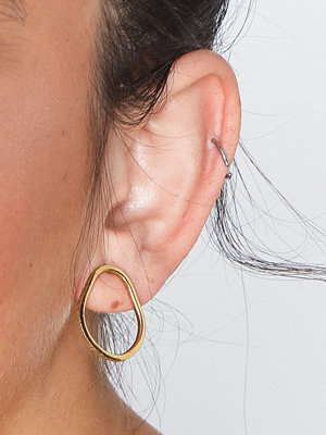 Cornelia Webb örhängen Slized Circle Stud Earring M - Pair