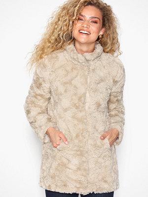 Fuskpälsjackor - Vero Moda Vmcurl High Neck Faux Fur Jacket No Ljus Grå
