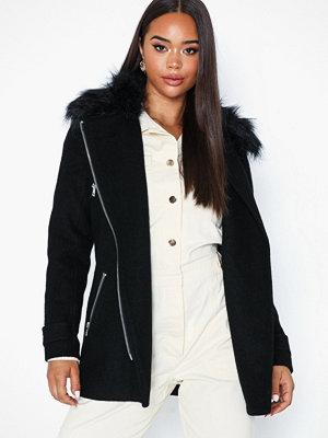 Only Onlcarol Wool Fur Biker Coat Cc Ot