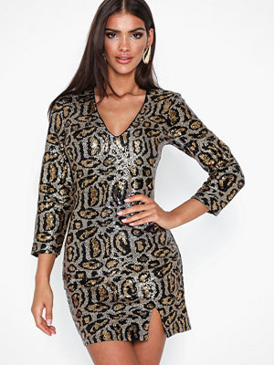 NLY Trend Leo Glam Sequin Dress