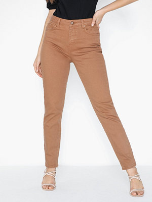 Pieces Pcleah Mom Hw Ank Colour Jeans-Ba