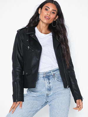 Skinnjackor - Only Onltaylor Faux Leather Biker Otw