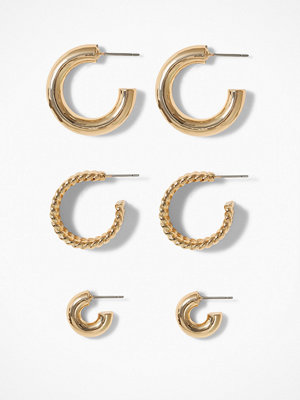 NLY Accessories örhängen 3 pack Thick Hoops