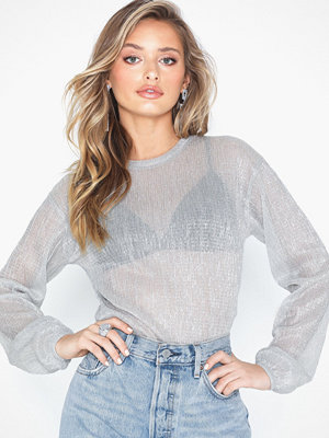 NLY Trend Shimmer Plisse Top
