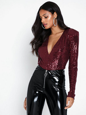 NLY One Glam Plunge Bodysuit