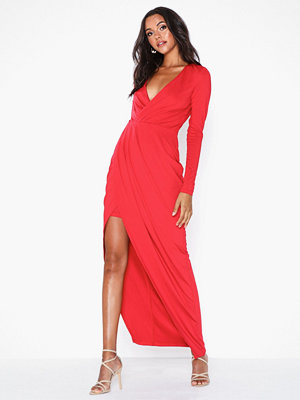 NLY Eve Drapy Wrap LS Gown