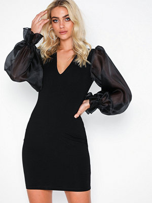 Ivyrevel Organza Sleeve Jersey Dress