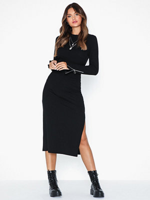 NLY Trend Zip Ribbed Midi Dress